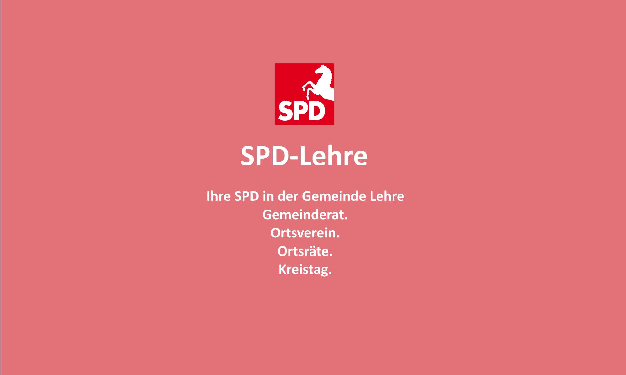 SPD Ortsverein Gemeinde Lehre